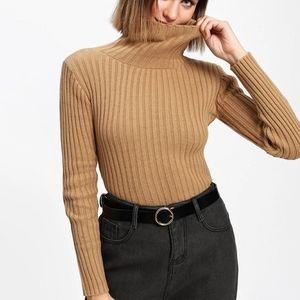 Streetwear Society women's rib knit turtleneck sweater